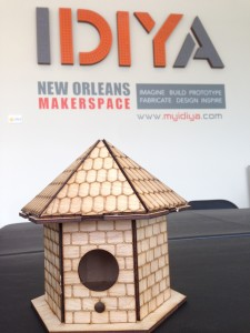 laser cut bird house diy maker space new orleans