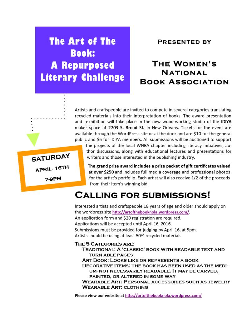 Art of the Book 2016 final flyer